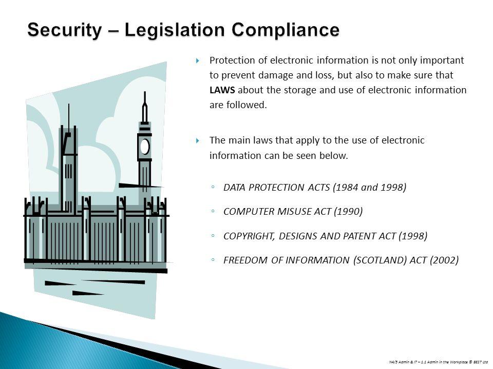 Security – Legislation Compliance