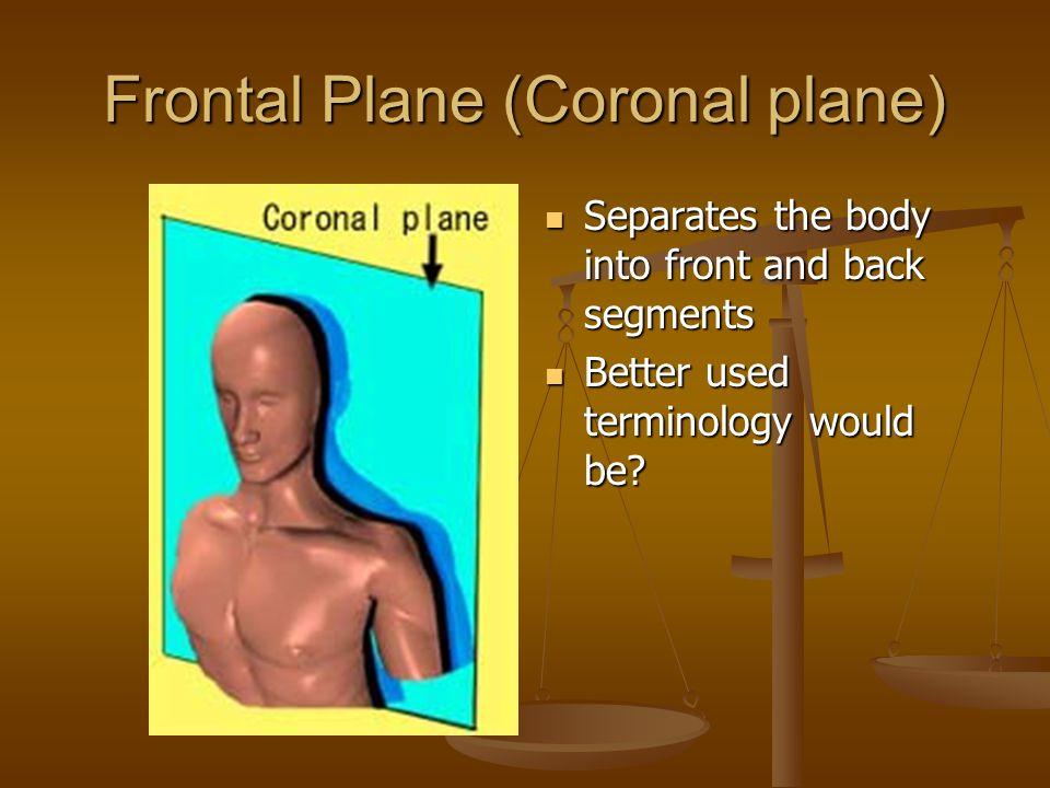 Frontal Plane (Coronal plane)