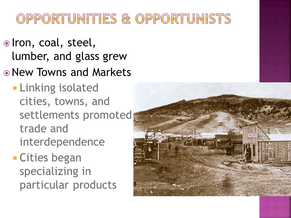 Opportunities & opportunists