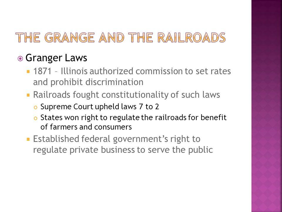 The Grange and the railroads
