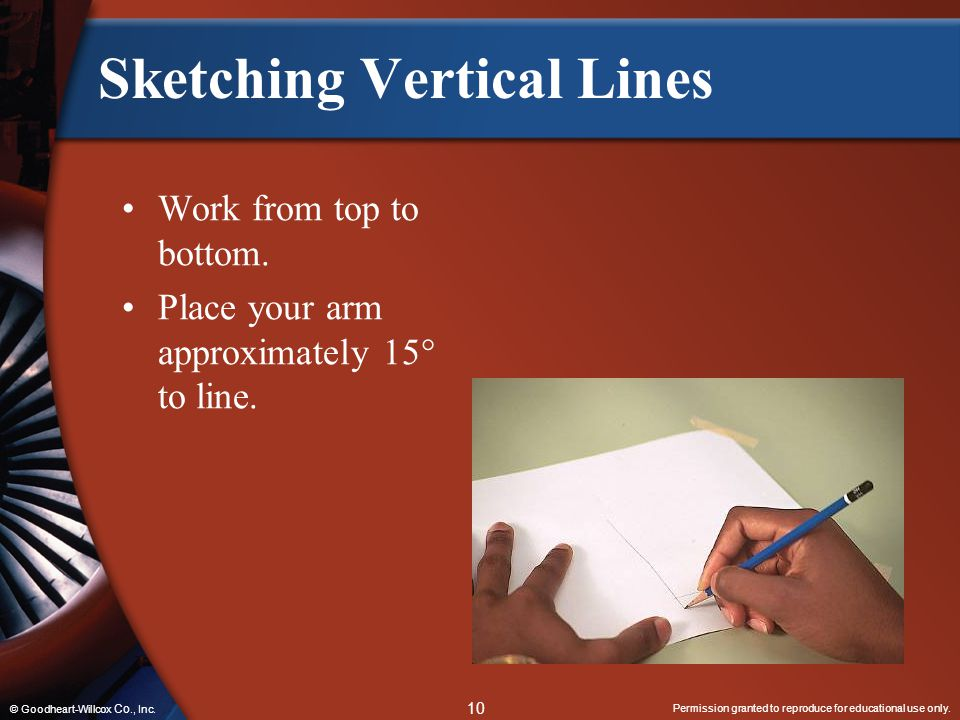 Sketching Vertical Lines