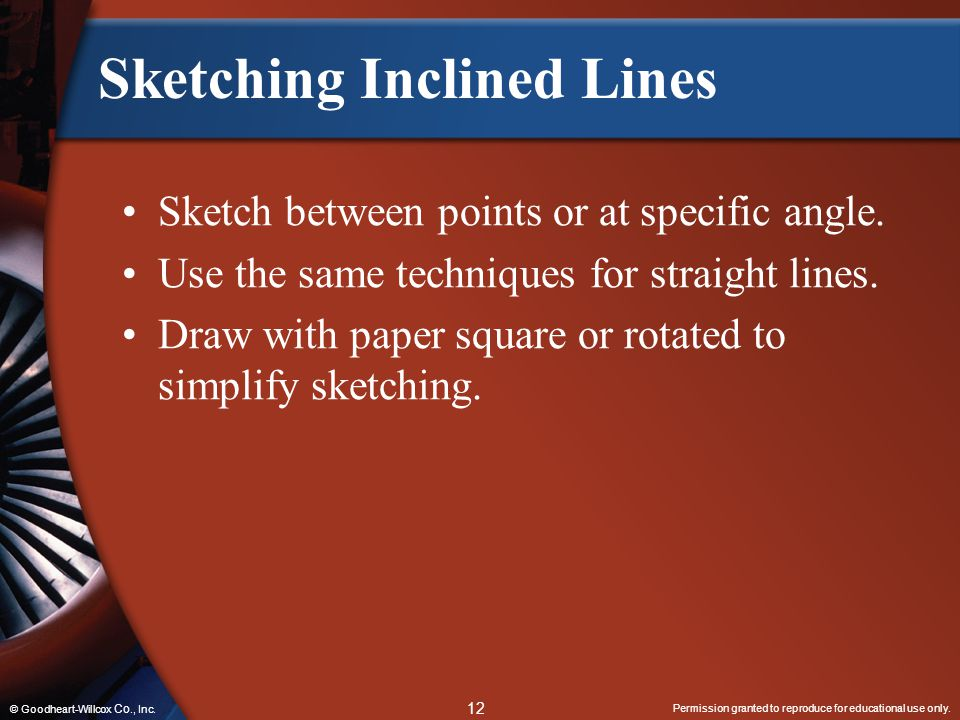 Sketching Inclined Lines