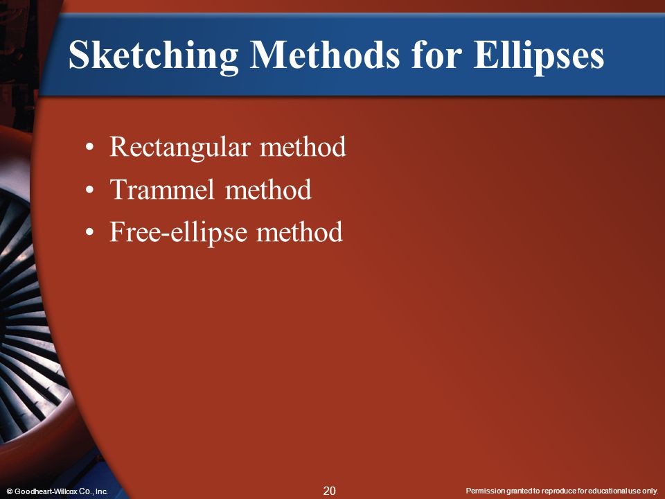 Sketching Methods for Ellipses