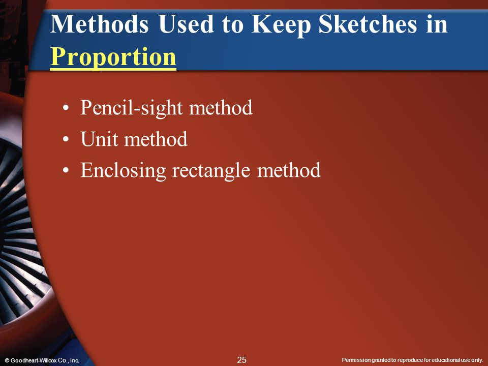 Methods Used to Keep Sketches in Proportion