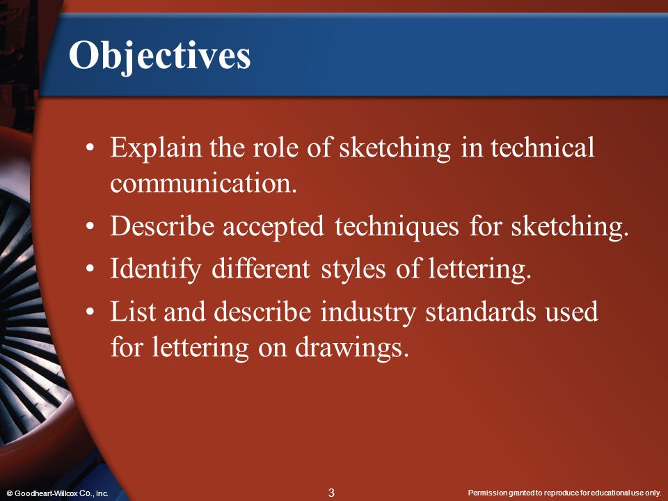 Objectives Explain the role of sketching in technical communication.