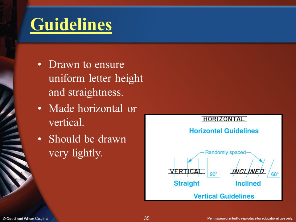 Guidelines Drawn to ensure uniform letter height and straightness.