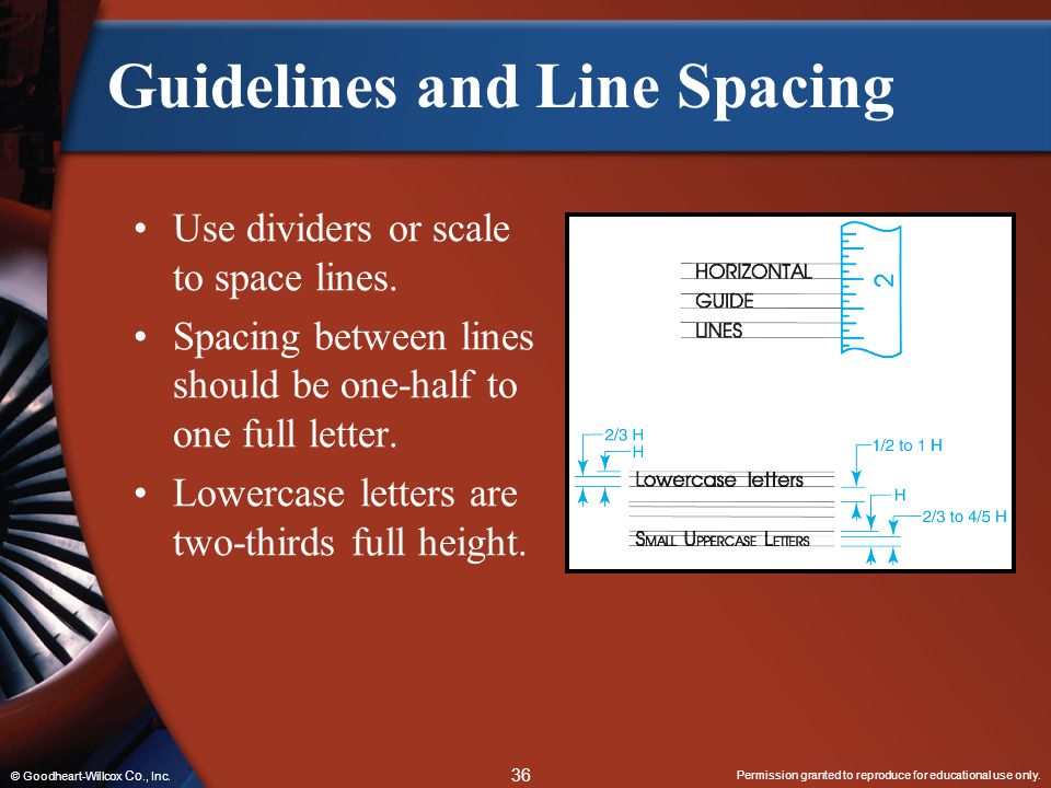 Guidelines and Line Spacing