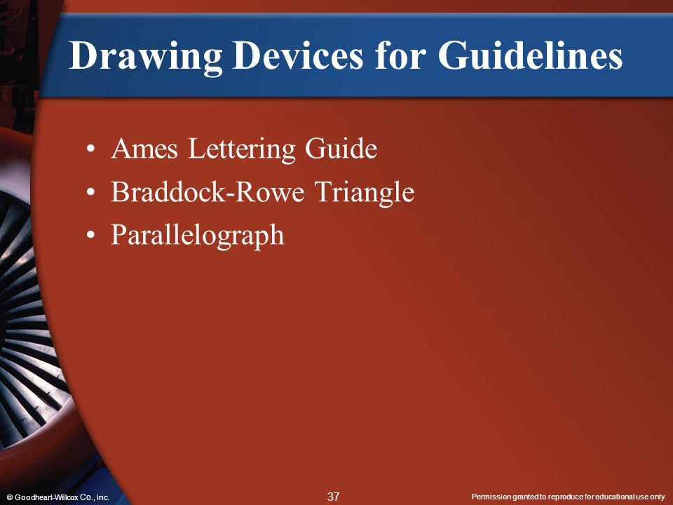 Drawing Devices for Guidelines