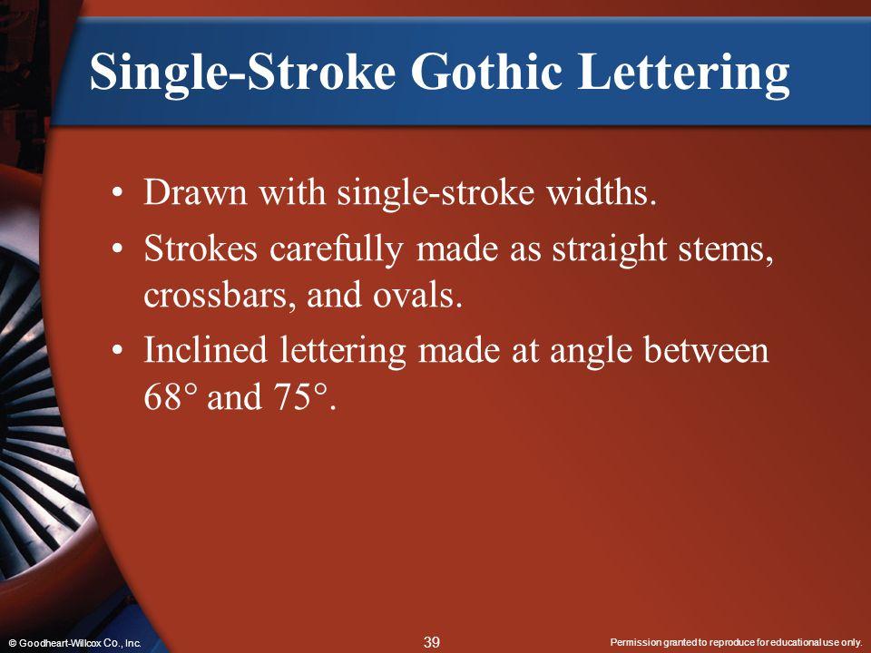 Single-Stroke Gothic Lettering