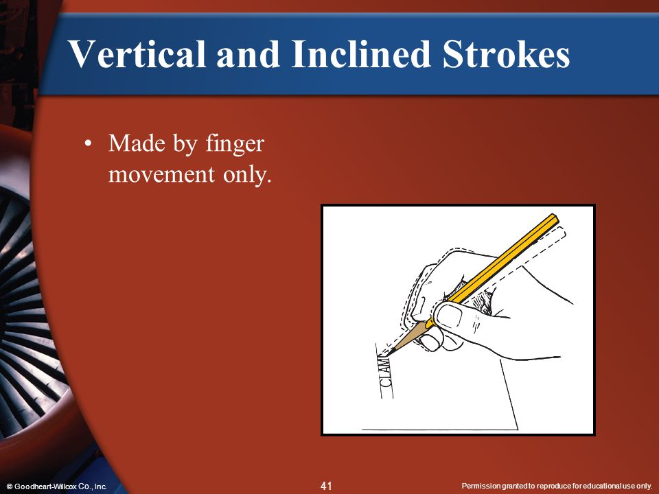 Vertical and Inclined Strokes