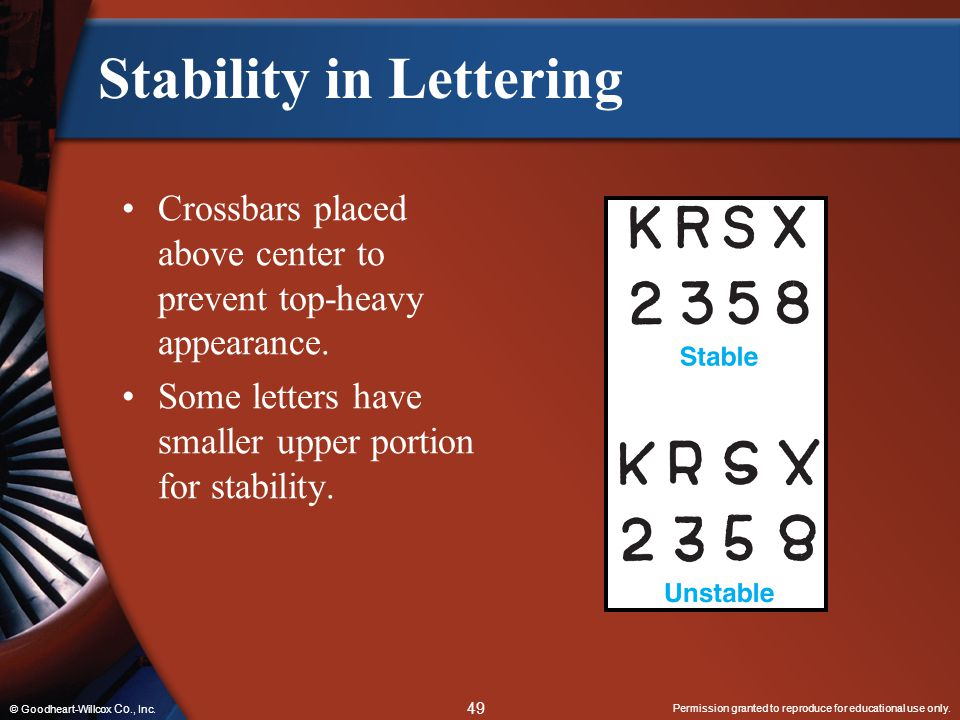 Stability in Lettering
