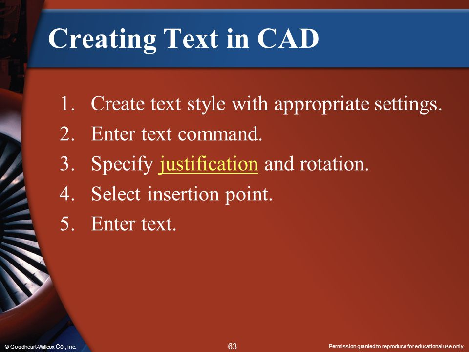 Creating Text in CAD Create text style with appropriate settings.