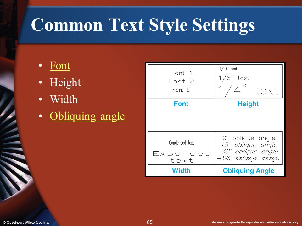 Common Text Style Settings