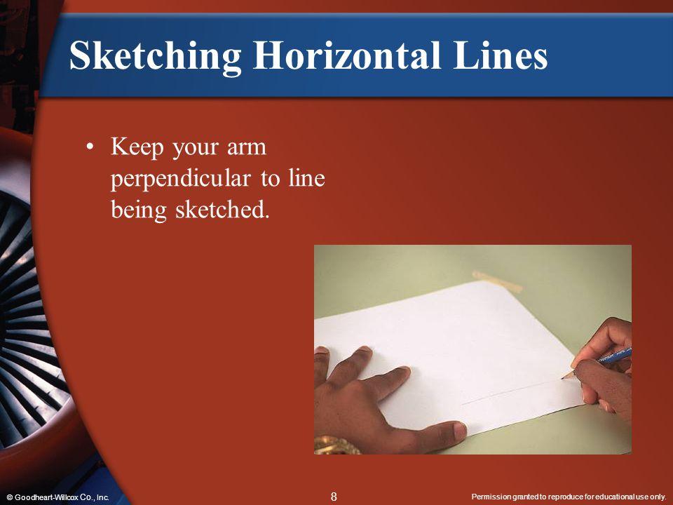 Sketching Horizontal Lines