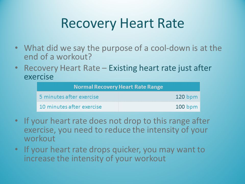Normal Recovery Heart Rate Range
