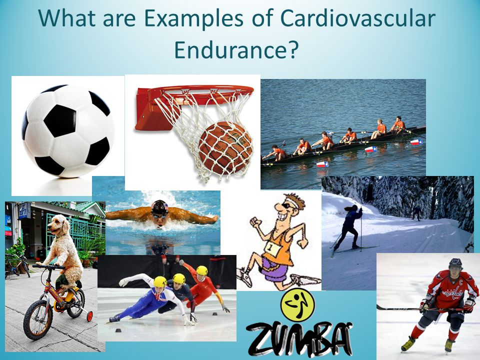 What are Examples of Cardiovascular Endurance