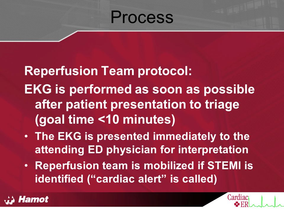 Process Reperfusion Team protocol: