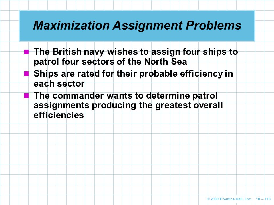Maximization Assignment Problems