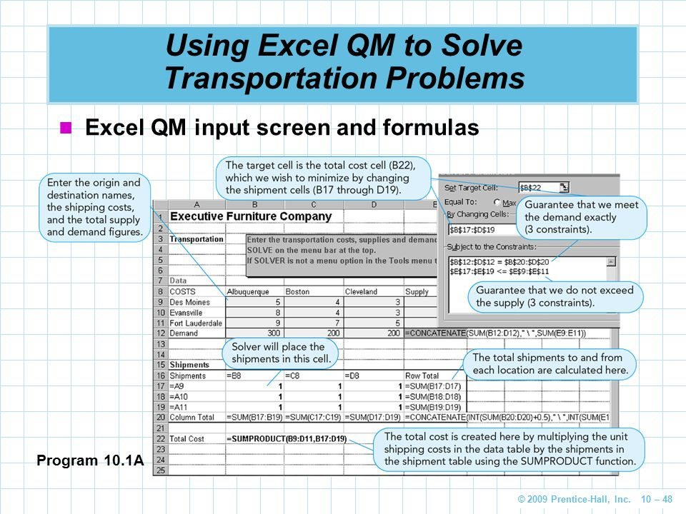 Using Excel QM to Solve Transportation Problems