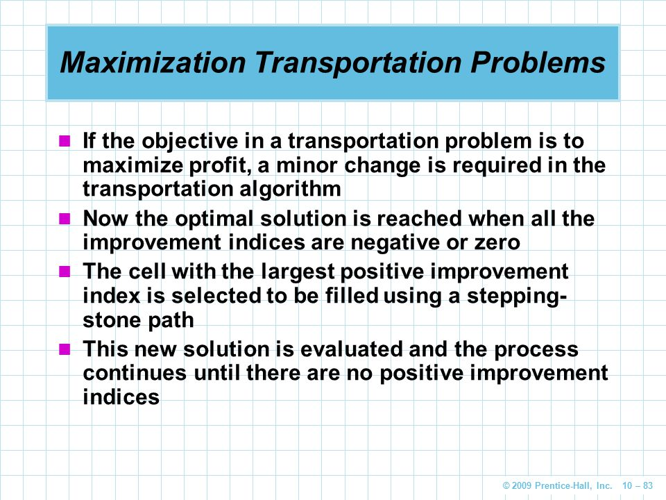 Maximization Transportation Problems