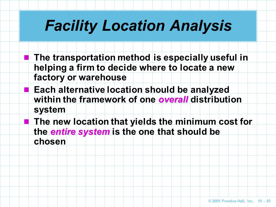 Facility Location Analysis