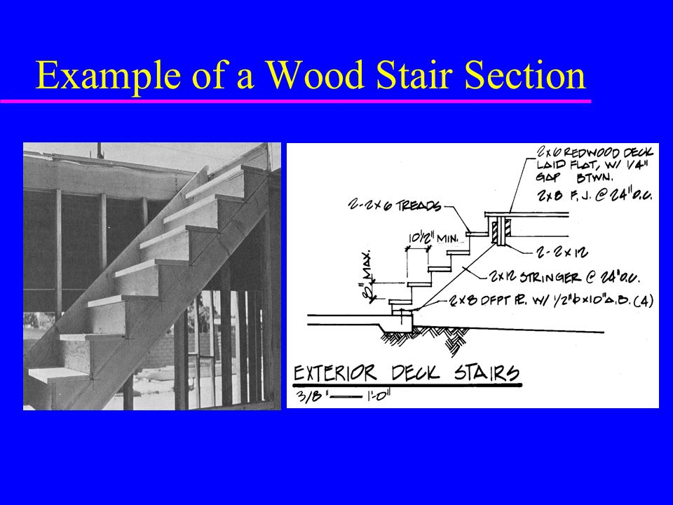 Example of a Wood Stair Section