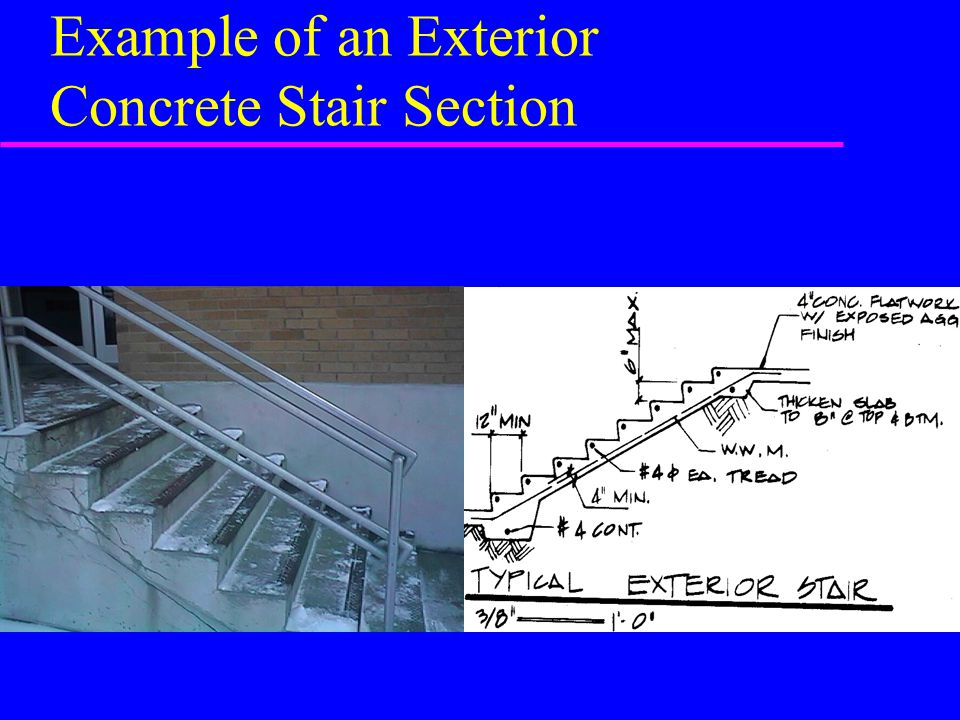 Example of an Exterior Concrete Stair Section