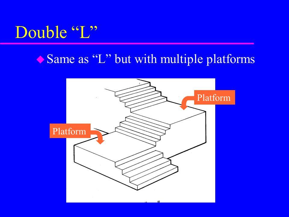 Double L Same as L but with multiple platforms Platform Platform