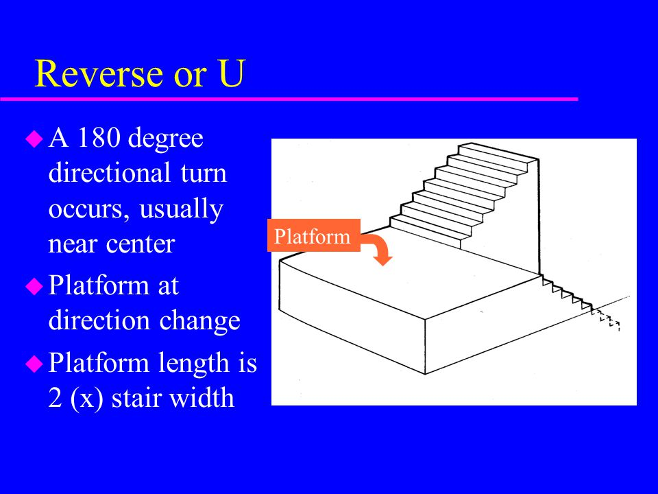 Reverse or U A 180 degree directional turn occurs, usually near center