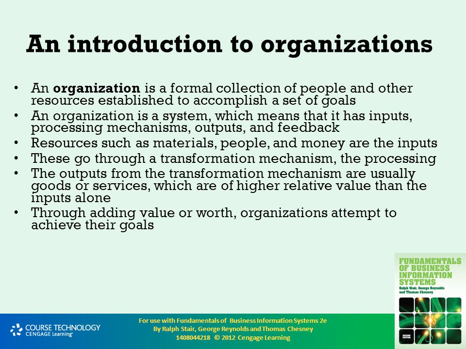 An introduction to organizations