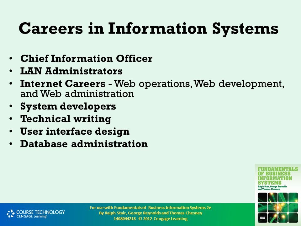 Careers in Information Systems