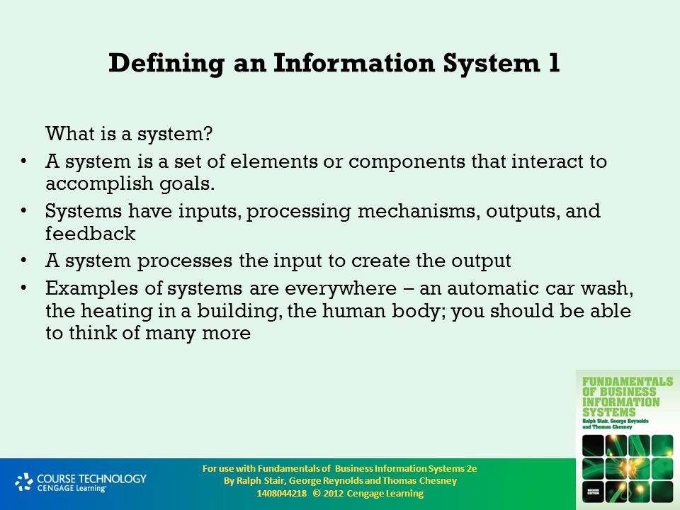 Defining an Information System 1
