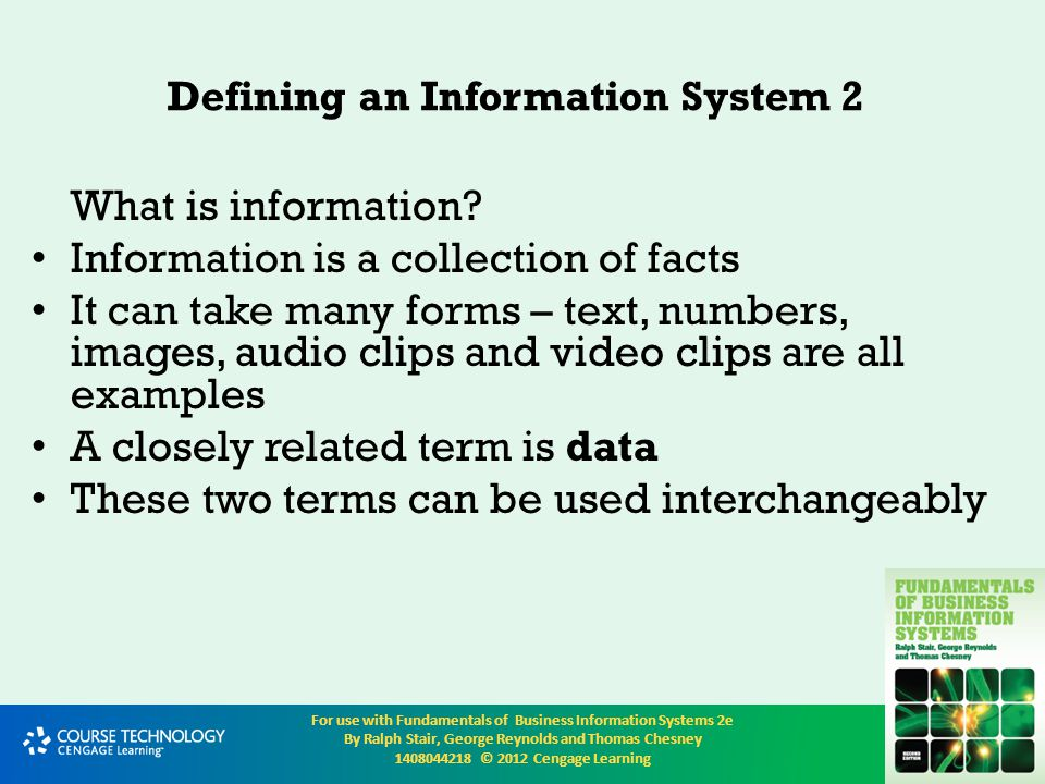 Defining an Information System 2