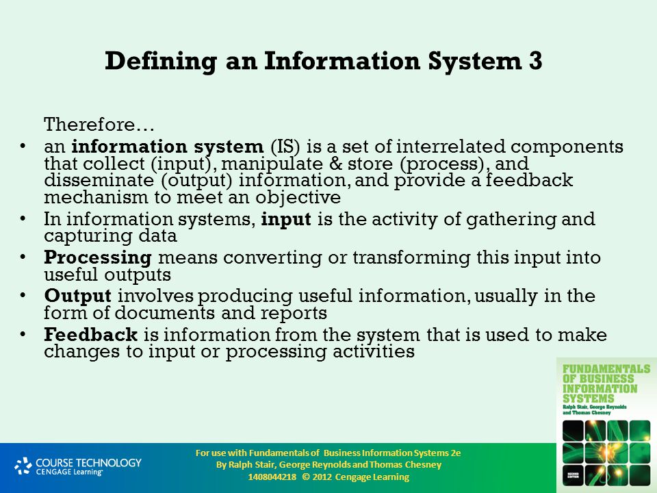 Defining an Information System 3