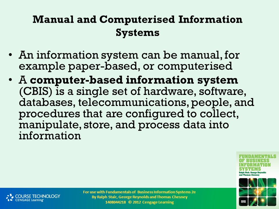 Manual and Computerised Information Systems