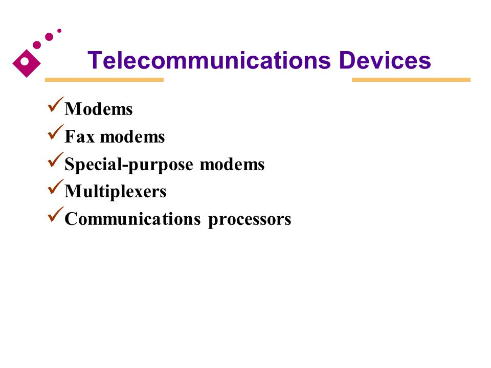 Telecommunications Devices