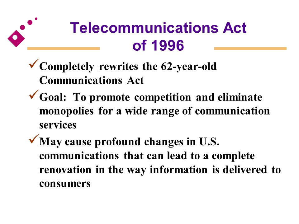 Telecommunications Act of 1996