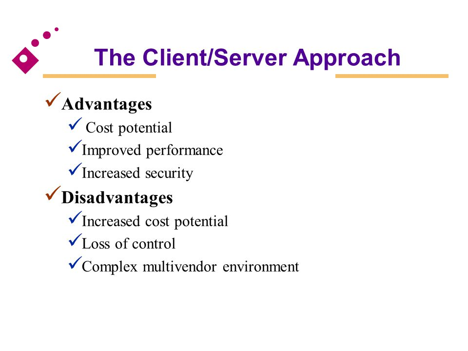 The Client/Server Approach
