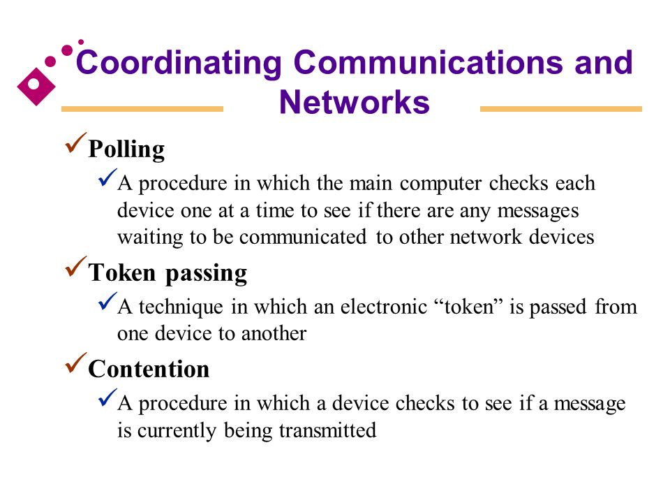 Coordinating Communications and Networks