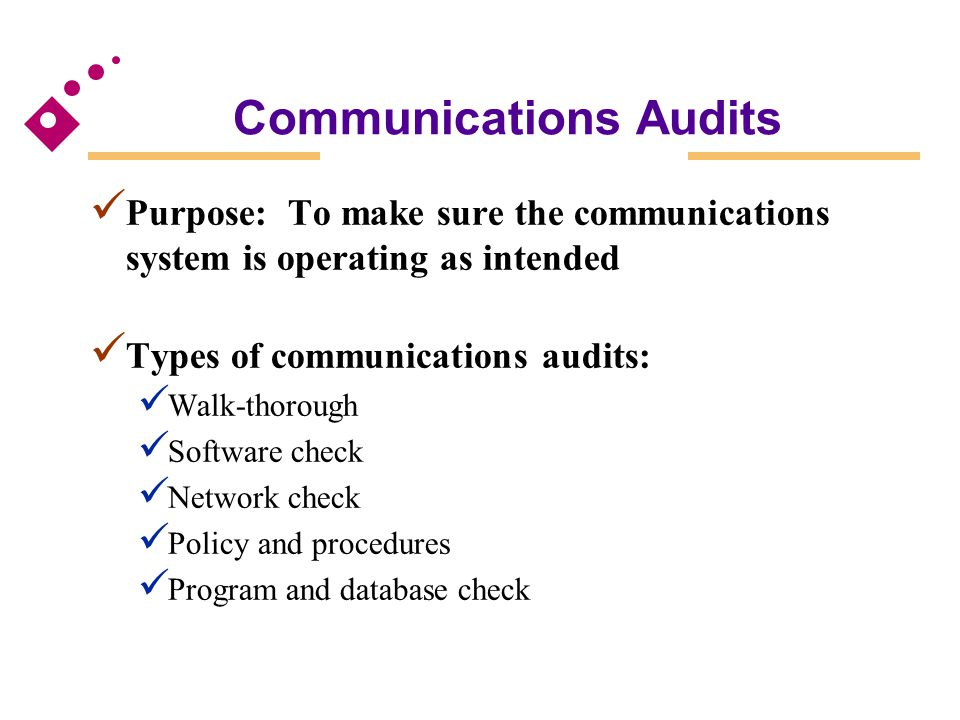 Communications Audits