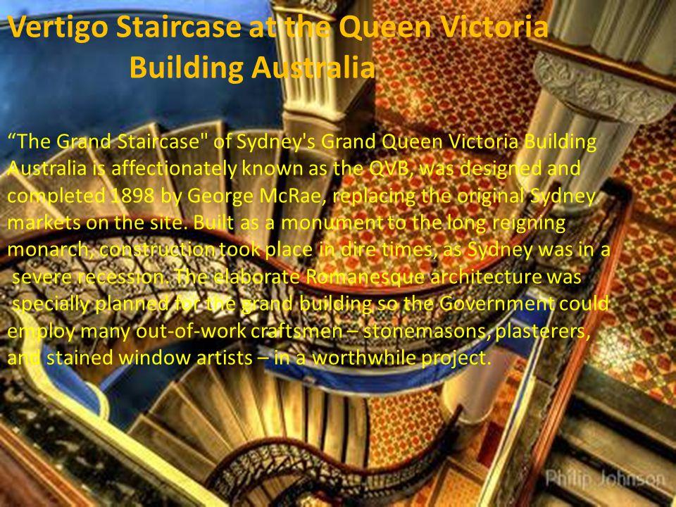 Vertigo Staircase at the Queen Victoria Building Australia