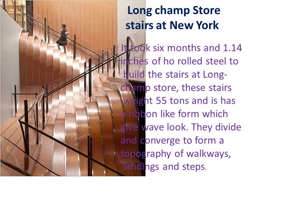 stairs at New York inches of ho rolled steel to