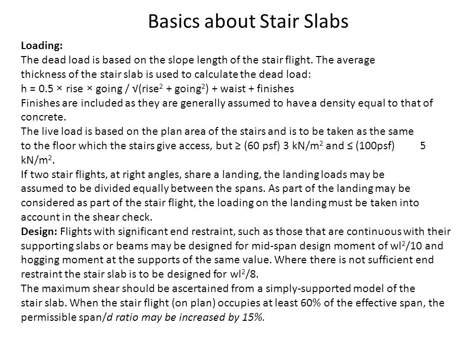 Basics about Stair Slabs