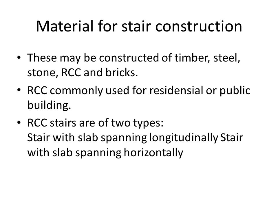 Material for stair construction