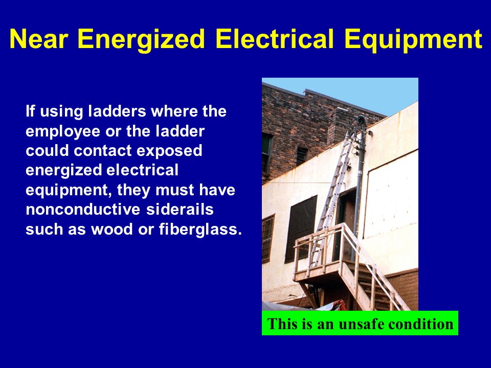 Near Energized Electrical Equipment