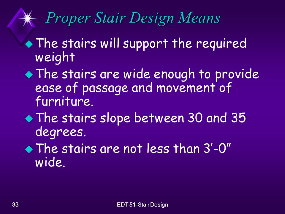 Proper Stair Design Means