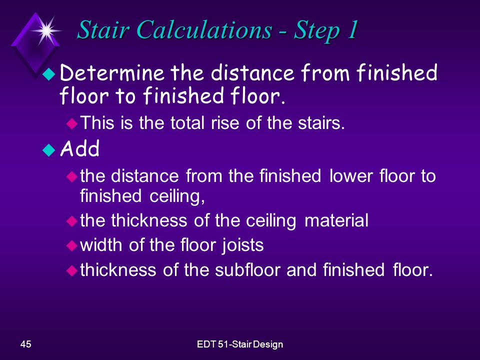 Stair Calculations - Step 1
