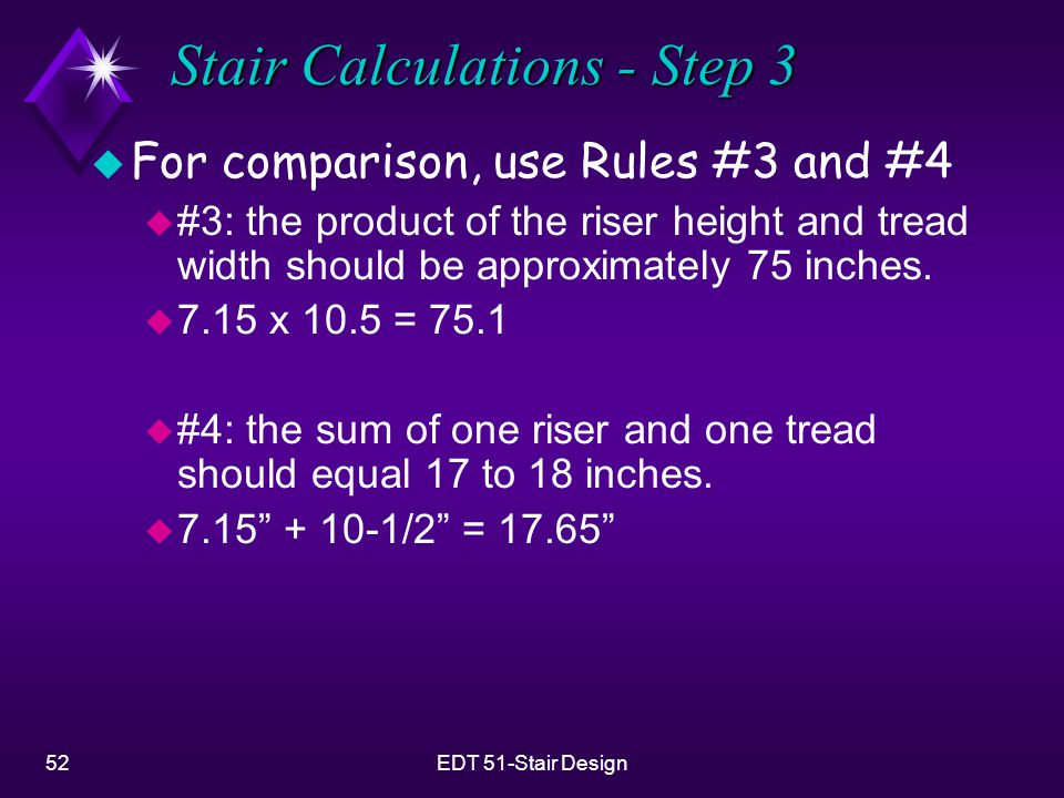 Stair Calculations - Step 3