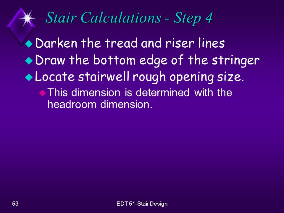 Stair Calculations - Step 4