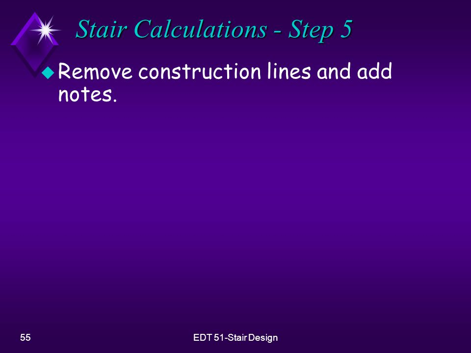Stair Calculations - Step 5